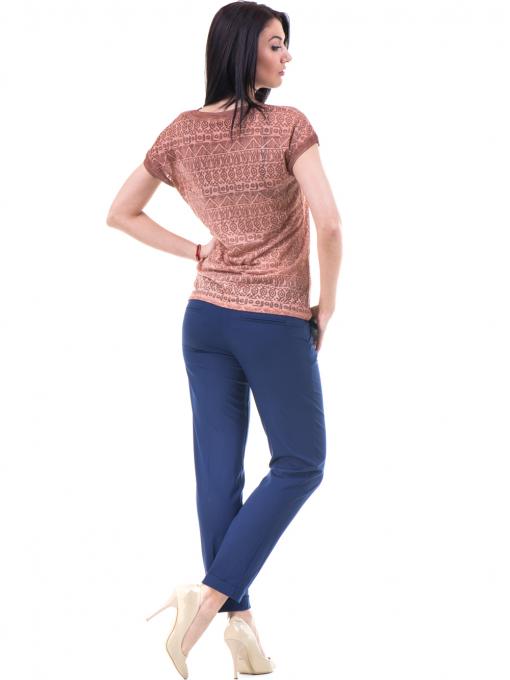 Дамска блуза с фигурални мотиви XINT 998 - цвят керемида E
