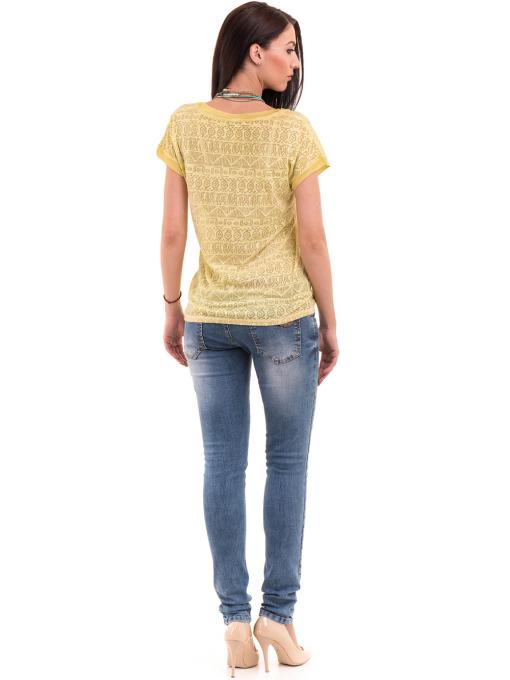 Дамска блуза с фигурални мотиви XINT 998 - тютюнево зелена E