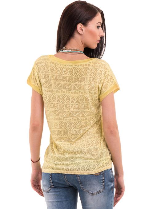 Дамска блуза с фигурални мотиви XINT 998 - тютюнево зелена B