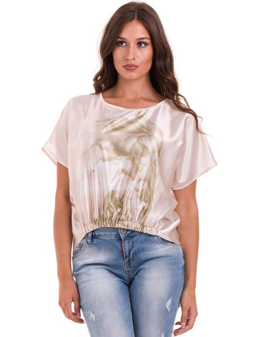 """Дамска ефирна блуза TWO""""E 13241 - цвят праскова"""