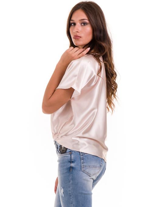 """Дамска ефирна блуза TWO""""E 13241 - цвят праскова B"""