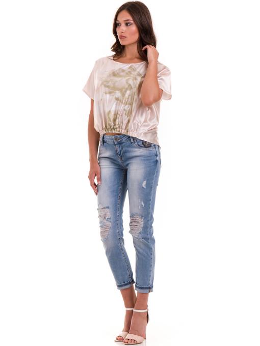 """Дамска ефирна блуза TWO""""E 13241 - цвят праскова C"""