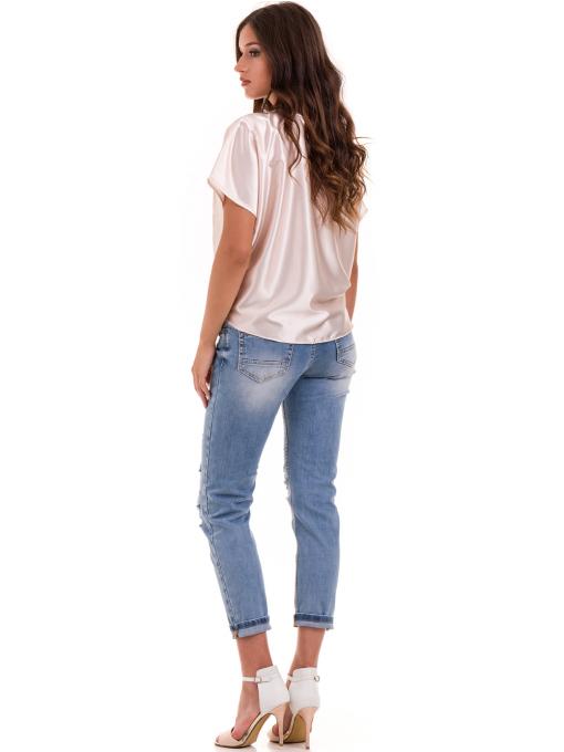 "Дамска ефирна блуза TWO""E 13241 - цвят праскова E"
