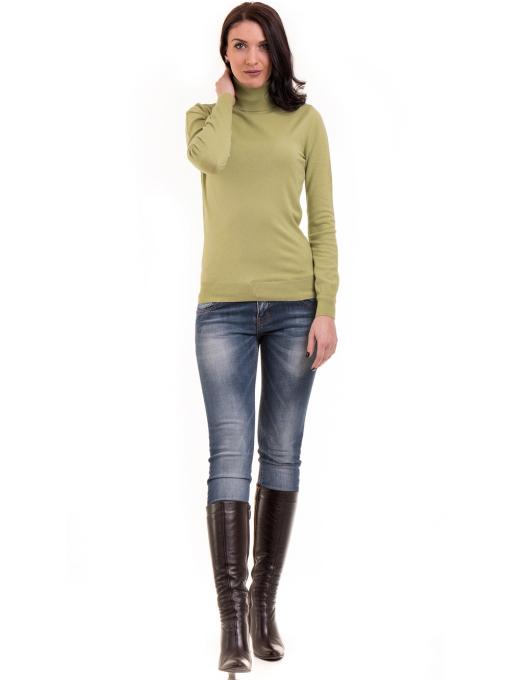 Дамска поло блуза  STAMINA 13201 - зелена C