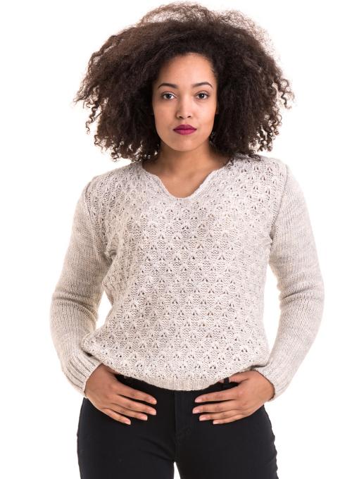 Дамско плетиво XINT 028 - светло сиво