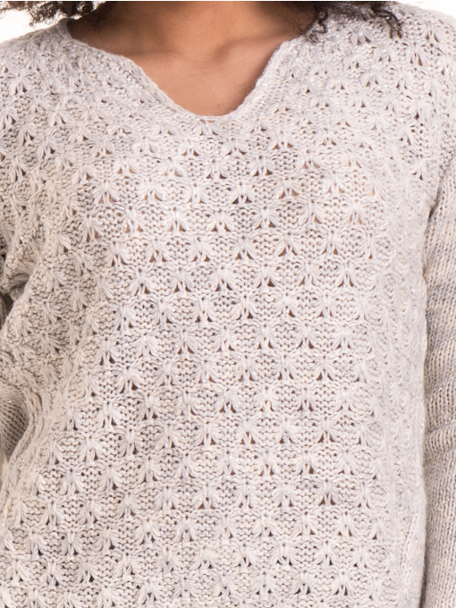 Дамско плетиво XINT 028 - светло сиво D