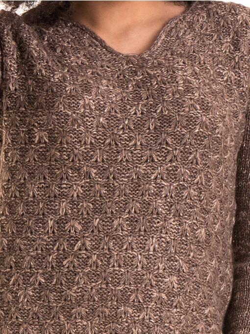 Дамско плетиво XINT 028 - кафяво D