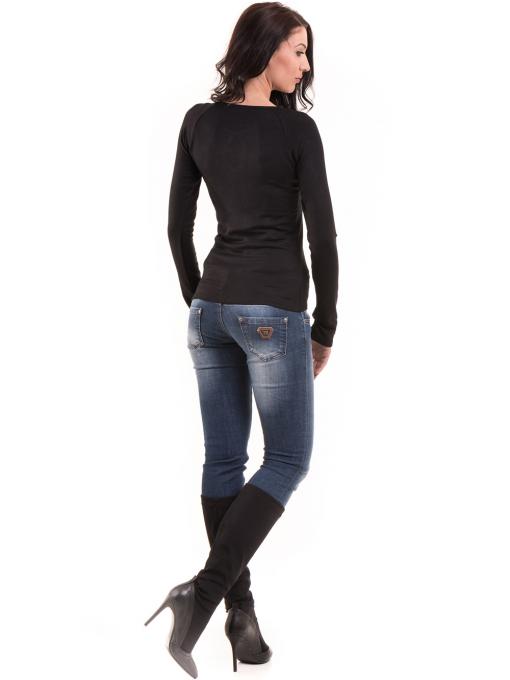 Дамска вталена блуза  BEBE 8104 - черна E