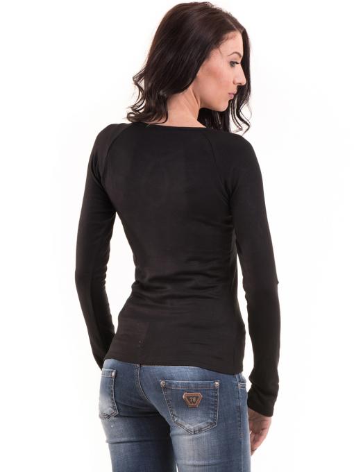 Дамска вталена блуза  BEBE 8104 - черна B