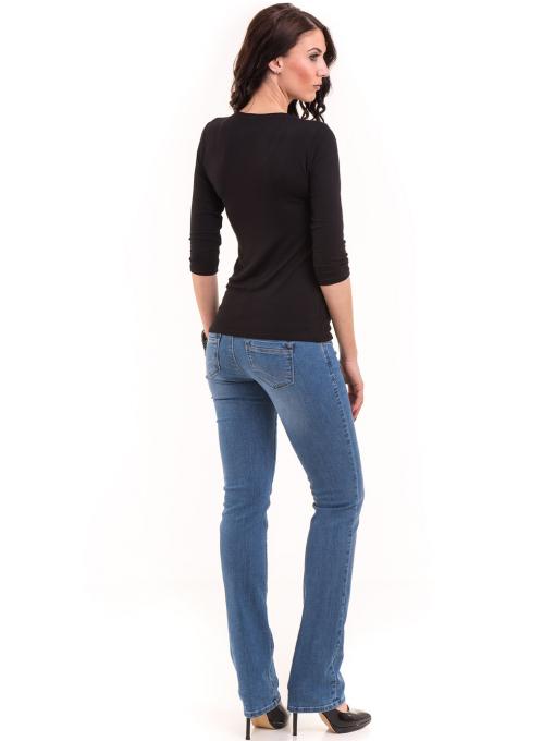 Дамска блуза BALMAIN с надпис 7010 - черна E