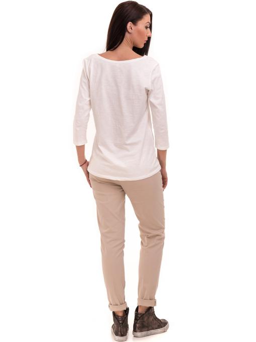 Дамска блуза FASHION FRIENDS с щампа 557 - цвят екрю E