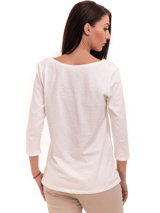 Дамска блуза FASHION FRIENDS с щампа 557 - цвят екрю B