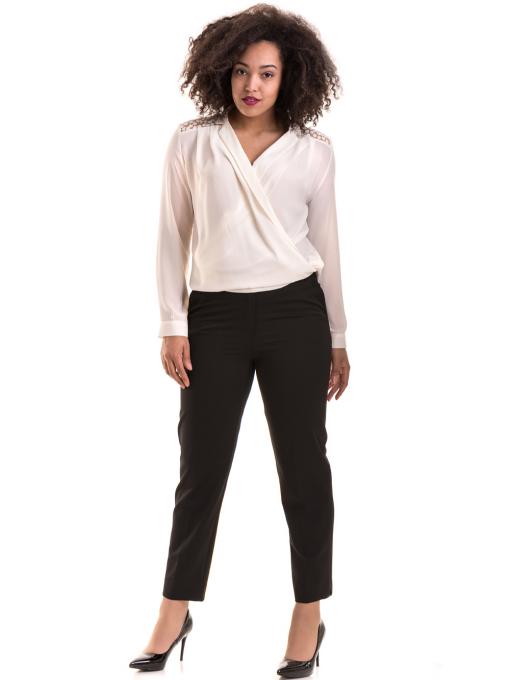 Елегантна дамска блуза 06216 - цвят екрю C