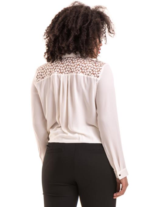 Елегантна дамска блуза 06216 - цвят екрю B