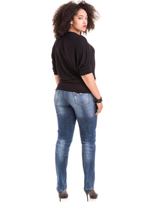 Дамска блуза GREEN APPLE с апликация 7046 - черна E