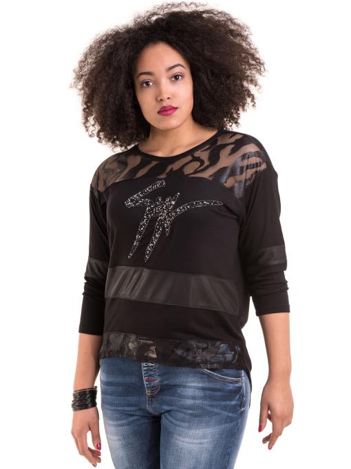 Дамска блуза GZT 7040 - черна