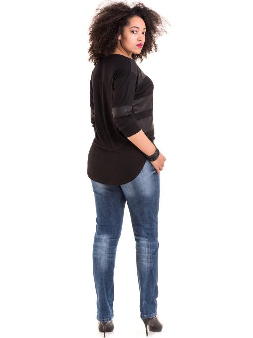 Дамска блуза GZT с щампа 7041 - черна E