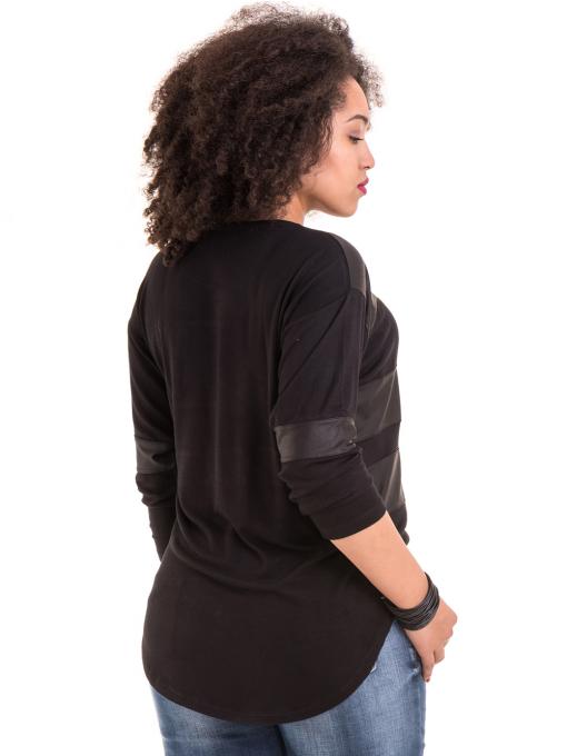 Дамска блуза GZT с щампа 7041 - черна B