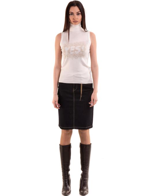 Дамска блуза JOGGY GIRLS без ръкав 2713 - цвят екрю C