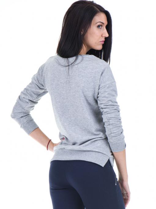Дамска спортна блуза JOGGY GIRLS с щампа 5031 - светло сива B