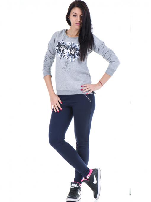 Дамска спортна блуза JOGGY GIRLS с щампа 5031 - светло сива C