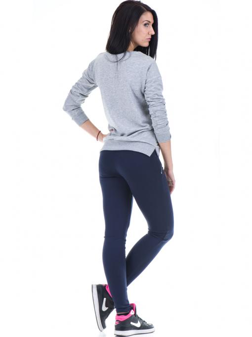 Дамска спортна блуза JOGGY GIRLS с щампа 5031 - светло сива E