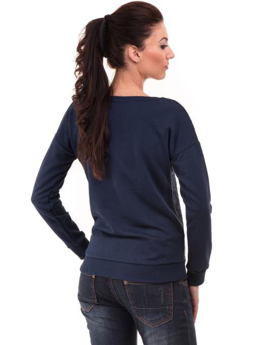 Дамска спортна блуза JOGGY GIRLS с щампа  5044 - цвят тъмно син B