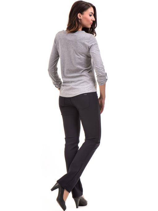 Дамска блуза JOGGY GIRLS с овално деколте 5159 - цвят сив E