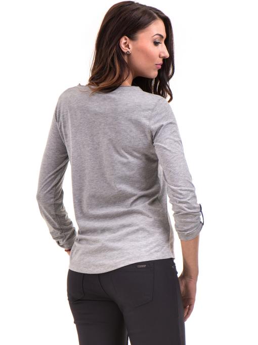 Дамска блуза JOGGY GIRLS с овално деколте 5159 - цвят сив B