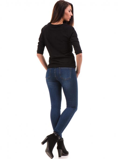 Дамска блуза JOGGY GIRLS с щампа-надпис 5494 - черна E