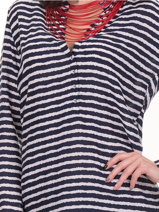 Дамска блуза  на райе JOGGY GIRLS 5626 - тъмно синя D
