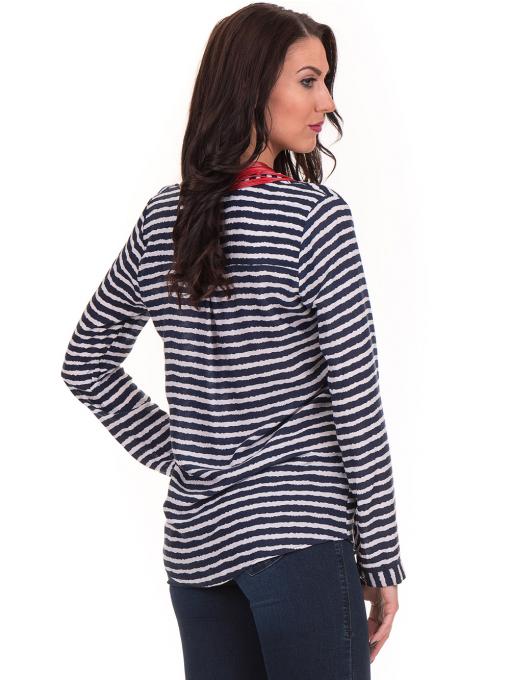 Дамска блуза  на райе JOGGY GIRLS 5626 - тъмно синя B