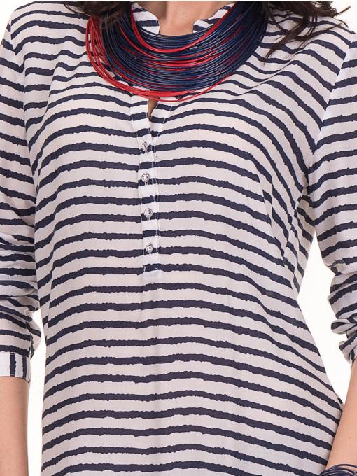 Дамска блуза на райе JOGGY GIRLS 5626 - бяла D