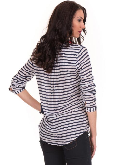 Дамска блуза на райе JOGGY GIRLS 5626 - бяла B