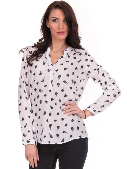 Дамска блуза JOGGY GIRLS тип риза 5632  - бяла
