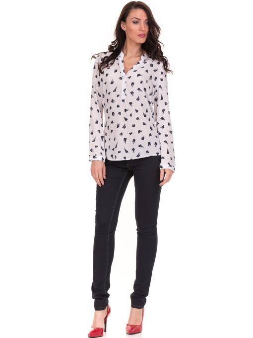 Дамска блуза JOGGY GIRLS тип риза 5632 - бяла C