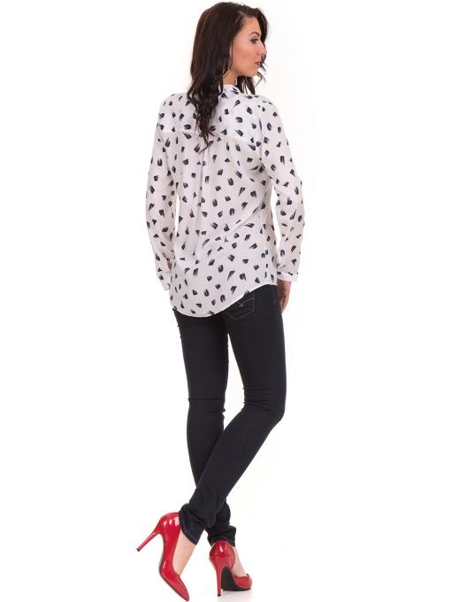 Дамска блуза JOGGY GIRLS тип риза 5632 - бяла E