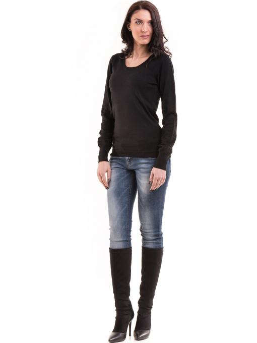 Дамска блуза JOY MISS 14202 - черна C