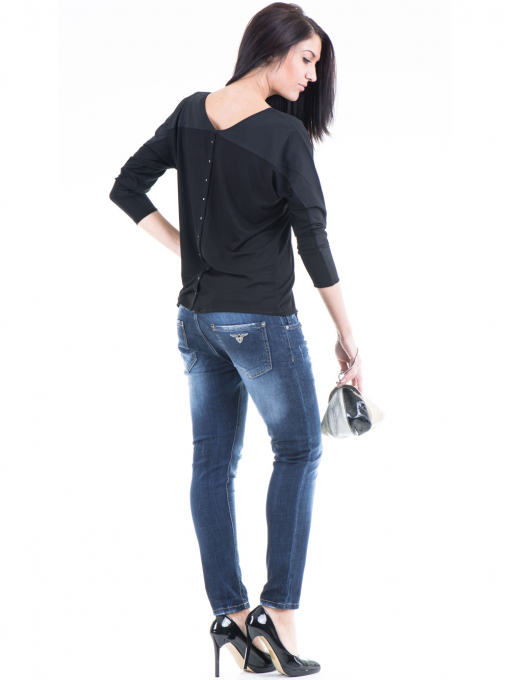 Дамска блуза JOY MISS 51068 - черна E