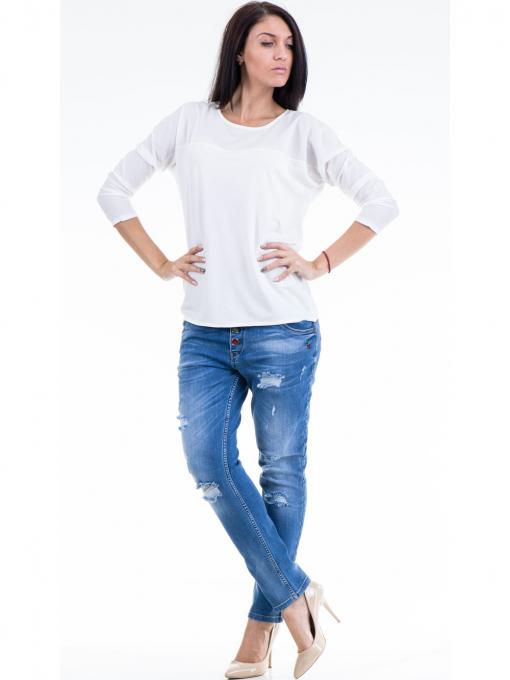 Дамска блуза JOY MISS 51068 - бяла C