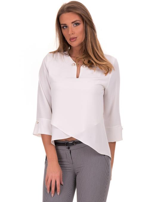 Елегантна дамска блуза  JOVENNA 2007 - цвят екрю