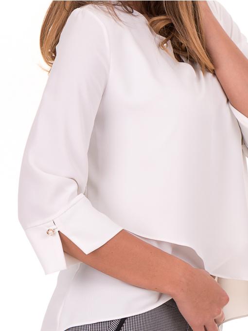 Елегантна дамска блуза  JOVENNA 2007 - цвят екрю D