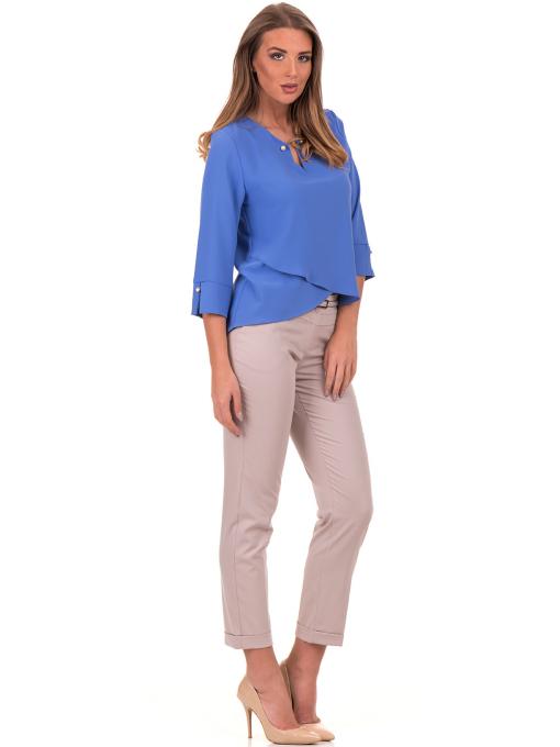 Елегантна дамска блуза  JOVENNA 2007 - синя C
