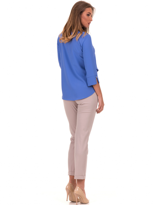 Елегантна дамска блуза  JOVENNA 2007 - синя E