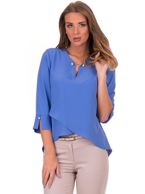 Елегантна дамска блуза  JOVENNA 2007 - синя