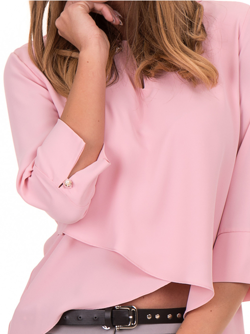 Елегантна дамска блуза JOVENNA 2007 - светло розова D