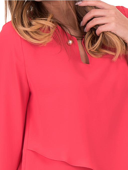 Елегантна дамска блуза JOVENNA 2007 - цвят  корал D