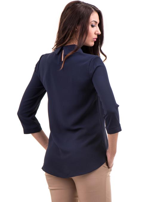 Елегантна Дамска блуза JOVENNA 22869 - тъмно синя B