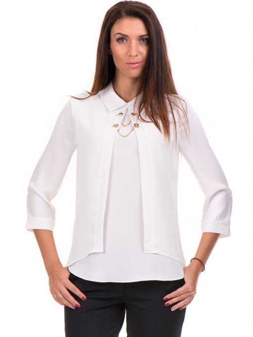 Елегантна дамска блуза JOVENNA 22869 - бяла