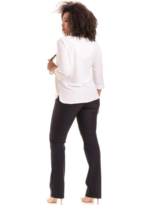 Елегантна дамска блуза с V-образно деколте 22875 - бяла C